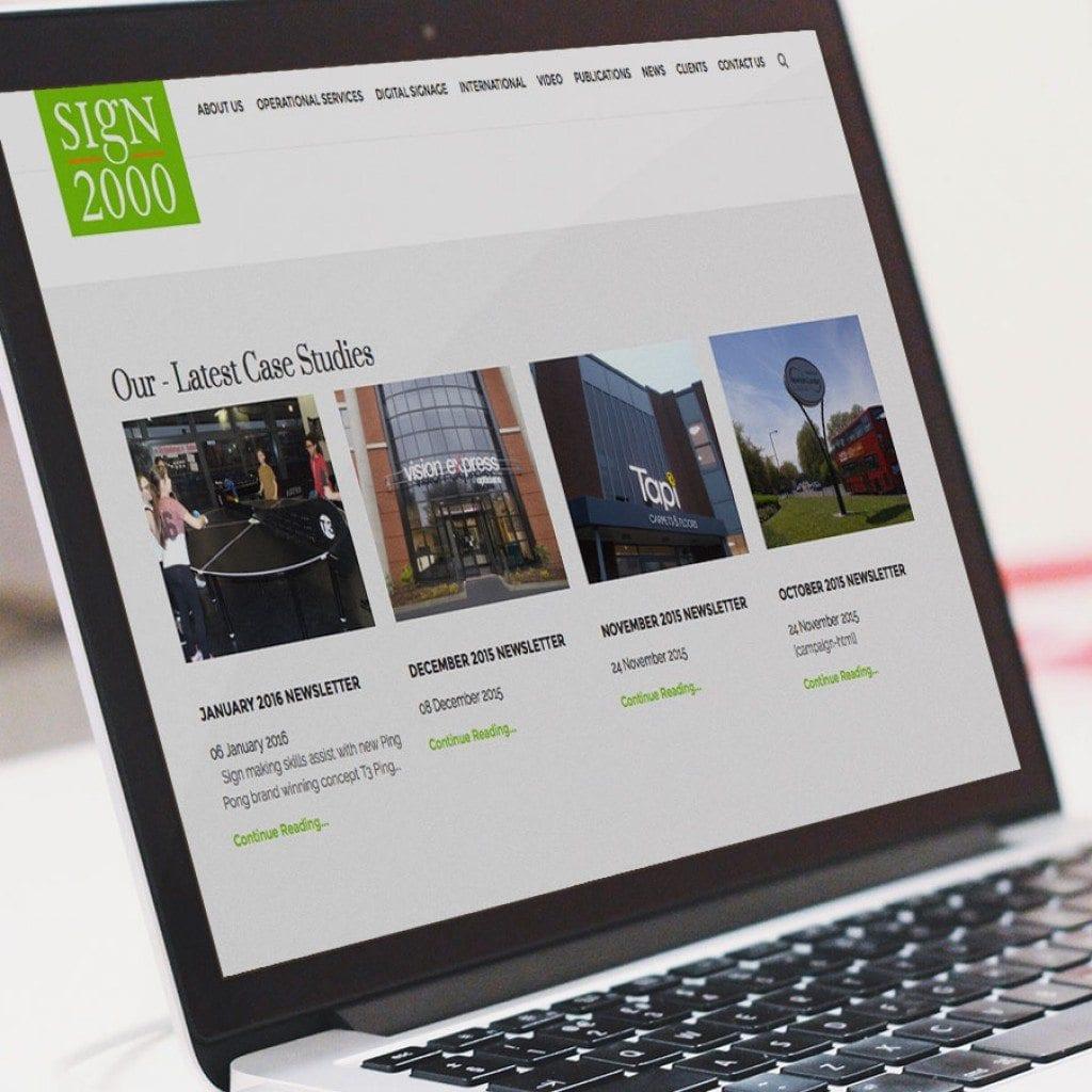 website design sign 2000